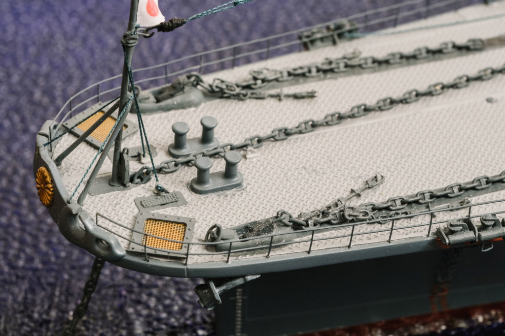 Yamato, un jour de janvier 1945 Modèle RC au 1/150 dans sa vitrine d'exposition - Page 2 Yamato15