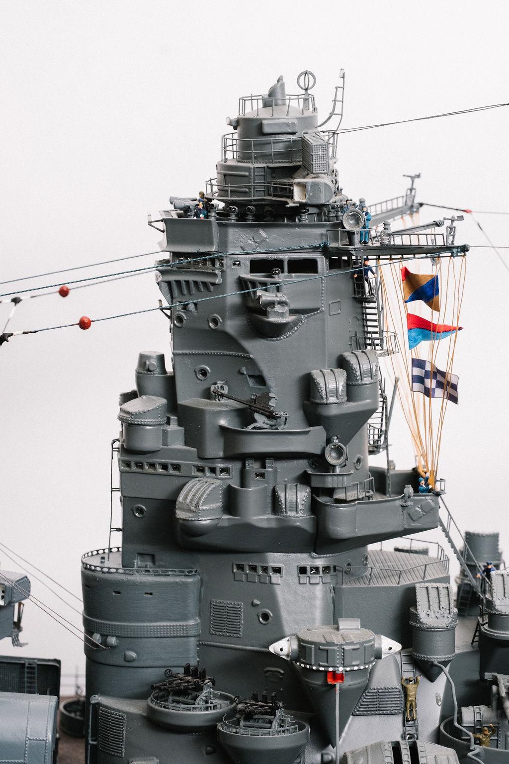 Yamato, un jour de janvier 1945 Modèle RC au 1/150 dans sa vitrine d'exposition - Page 5 Yamato46