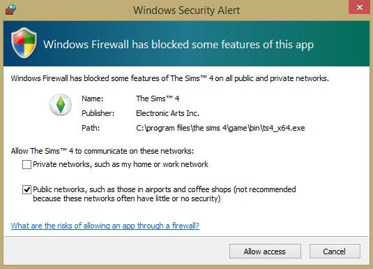 Windows firewall message. Screen10