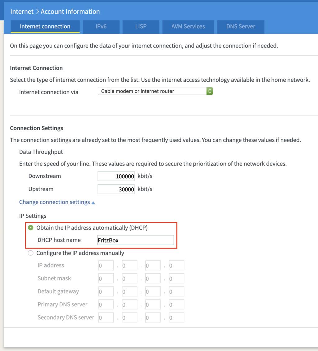 Problemi di DHCP con FritzBox 4040 su Technicolor TG788vn v2 Tiscali Scherm10