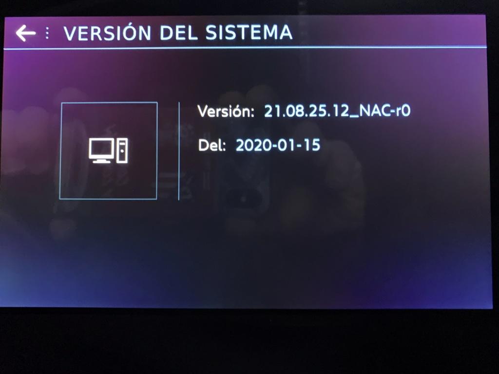 Nueva actualización de sofware Versión21.08.25.12_NAC-r0 20/01/20 Img_3412
