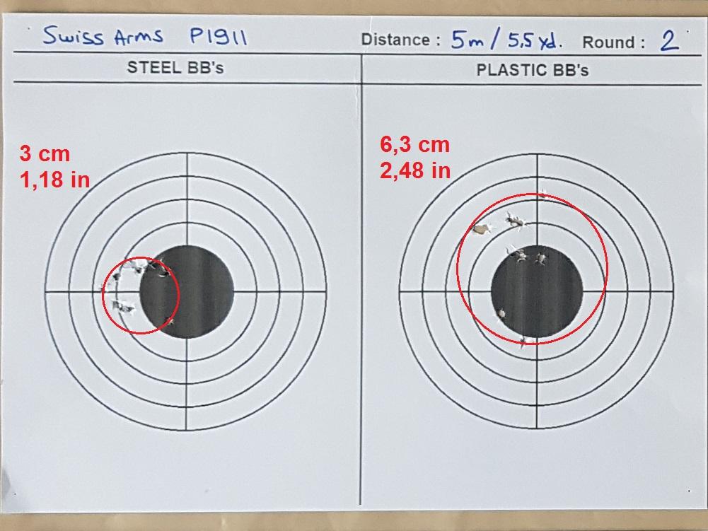 Tests des billes plastique 4,5mm ASG Blaster 0222