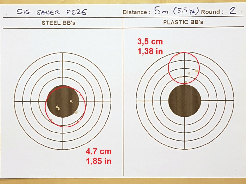 Tests des billes plastique 4,5mm ASG Blaster 0223