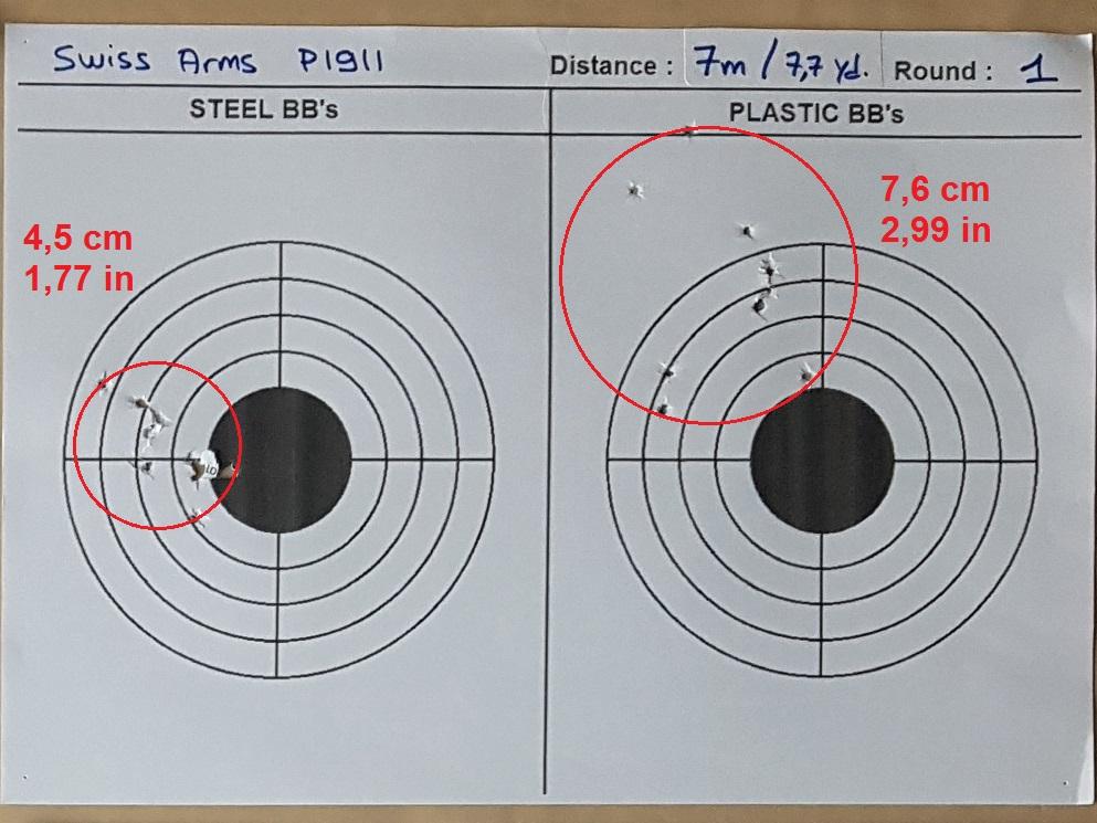 Tests des billes plastique 4,5mm ASG Blaster 0419