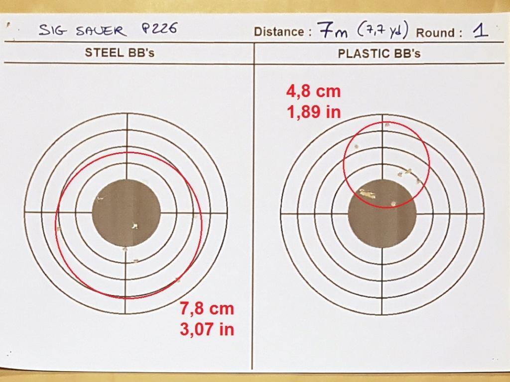 Tests des billes plastique 4,5mm ASG Blaster 0420
