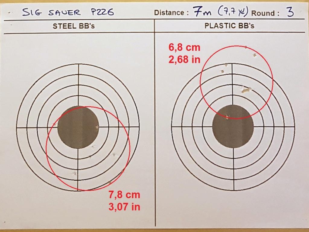Tests des billes plastique 4,5mm ASG Blaster 0612
