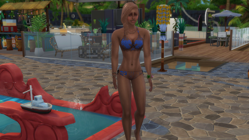 Sims have skin colored clothes after aging to teen? help 07-03-11