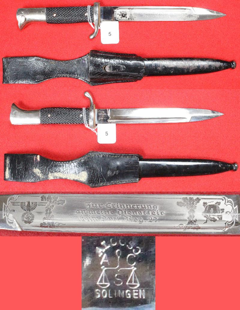 Dague allemande identification 5a10