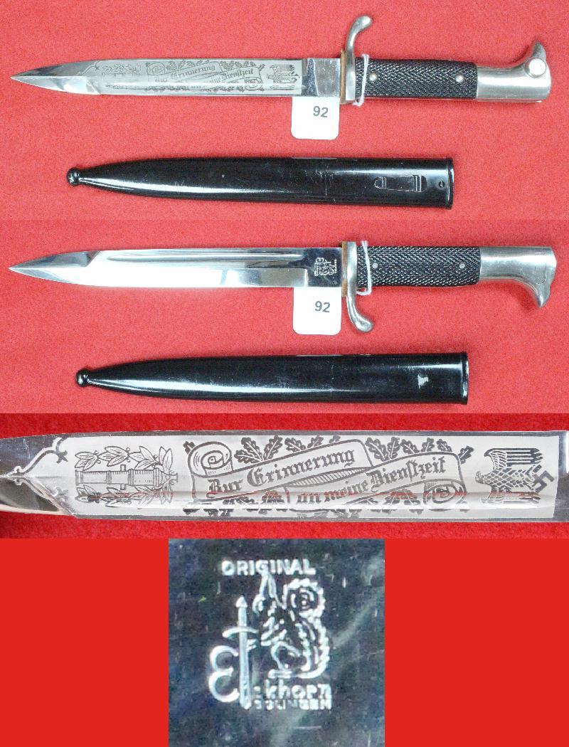 Dague allemande identification 92a10