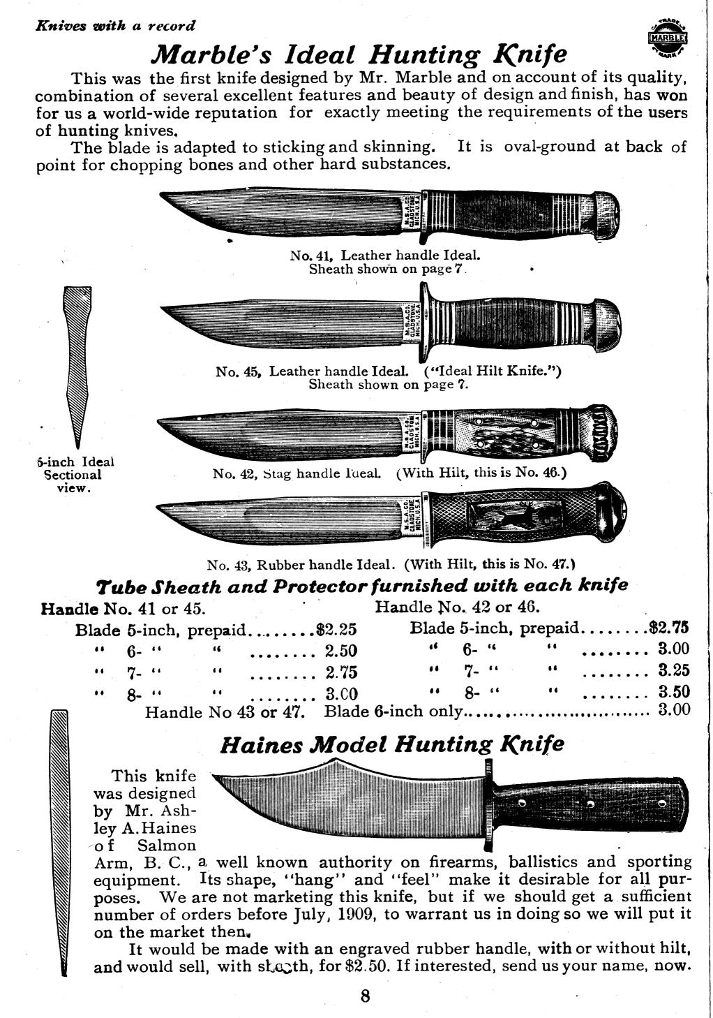 Couteau Marbles - datation E3384110
