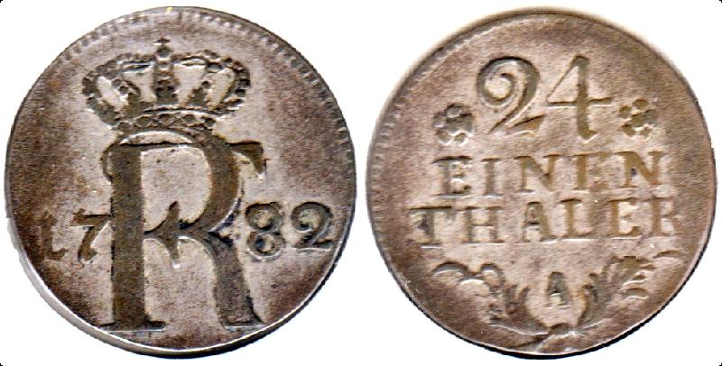 Prusia 1/24 de Taler - 1782 001a-111