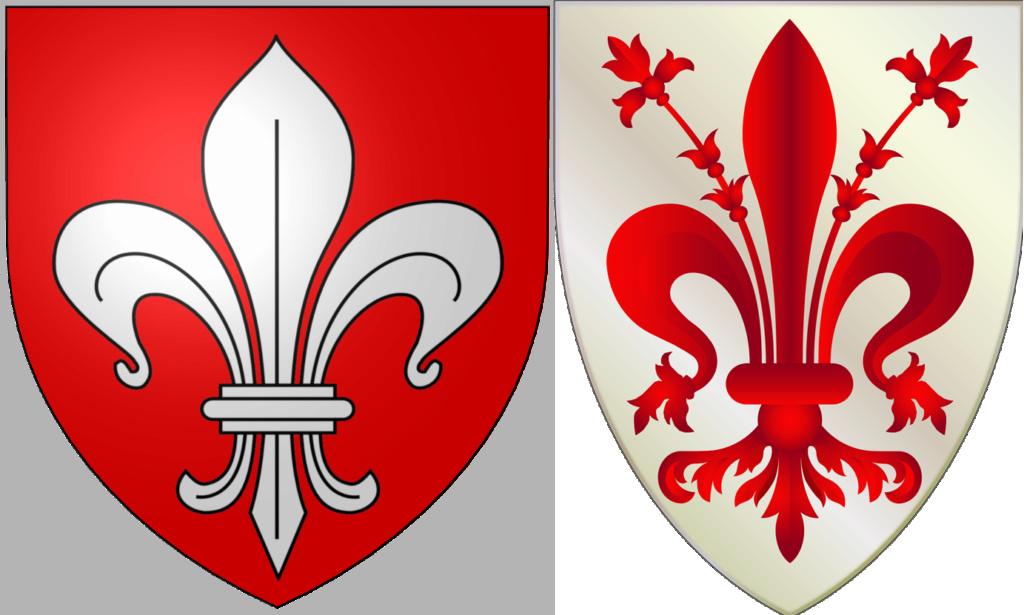 L'iris de Florence: blanc, rouge ou bleu? Blason10
