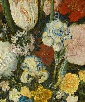 Iris plicata en peinture Bruegh11