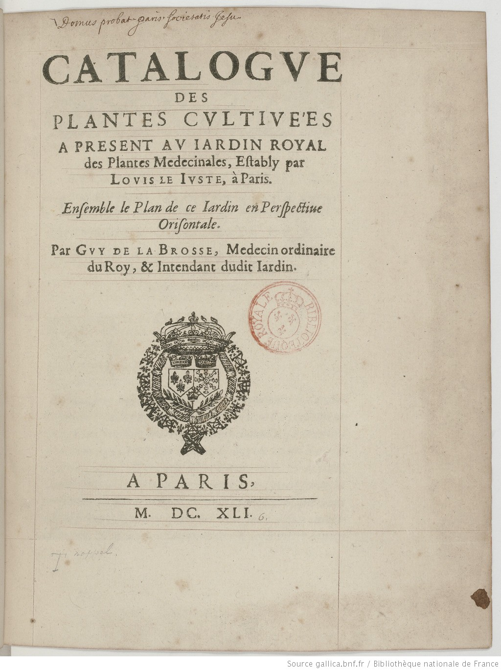 Vélins du XVIIe s. Catalo10