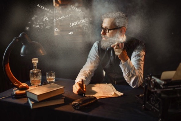 je fume la pipe au milieu de la nuit   Illustration  Brase d'Anjou Willia10