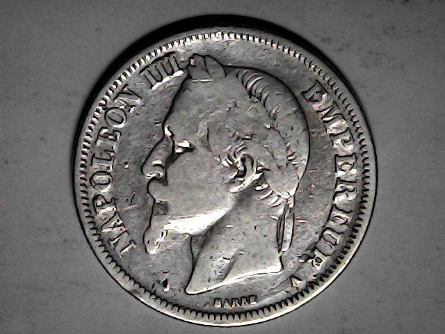 2 francos de 1868,plata.Napoleón III Fri_ja37