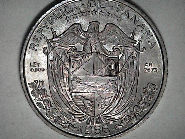 1 Balboa de Panamá,1966,plata. Fri_ja44