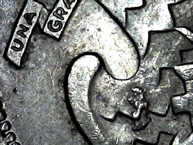 1 Peso de 1.867 (tipo Carrera), Guatemala. Mon_de20