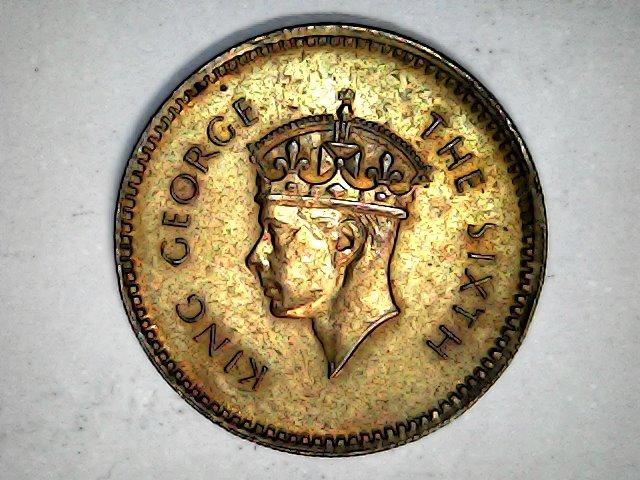 25 Céntimos de Ceylan 1951 Mon_fe15