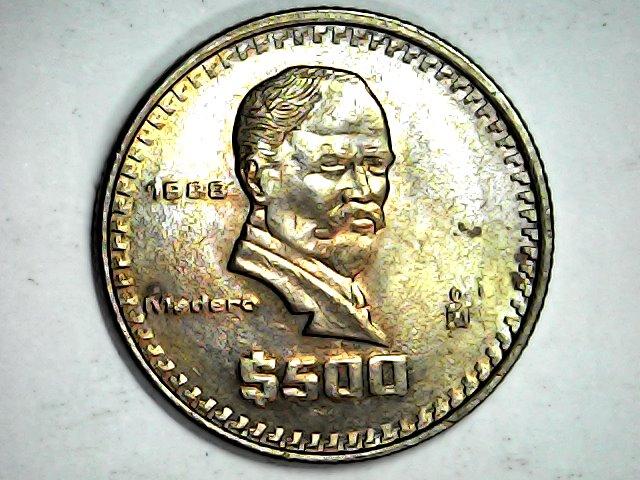 500 pesos de 1988 México Mon_fe18