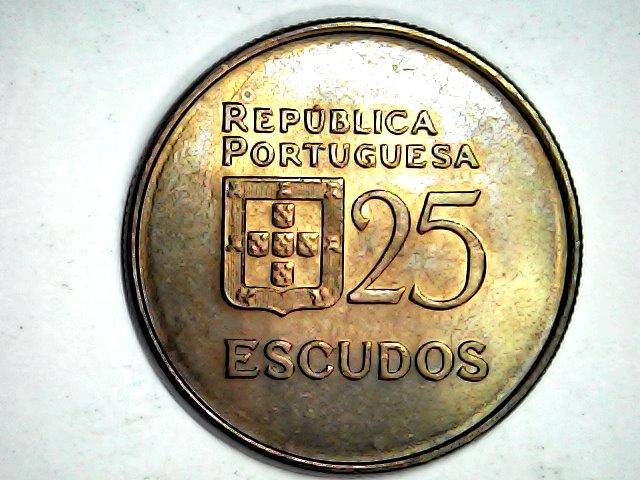 Pátina 25 escudos 1981,Portugal Mon_fe21