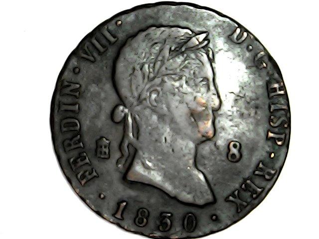Fernando Vll. 8 maravedis Segovia 1830 Sat_ap15