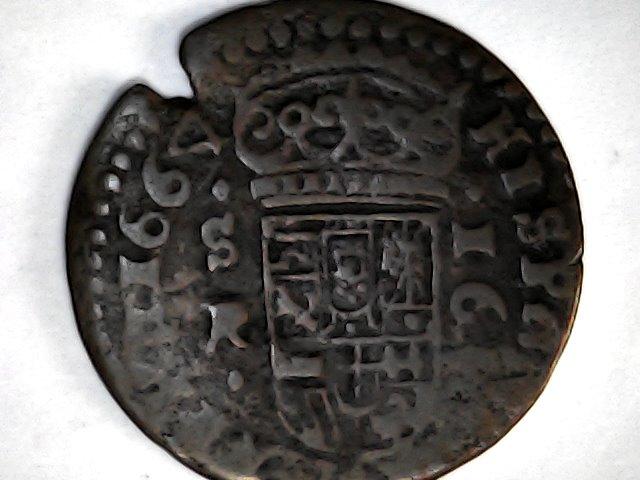 """Felipe llll ,16 maravedis de 1664......el 4 """"tumbao"""", de Sevilla. Sat_de29"""