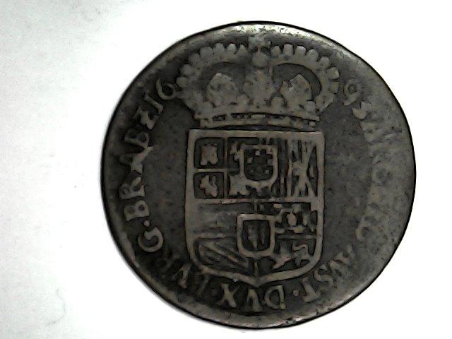 Carlos ll,liard de Amberes 1693 Sat_de54