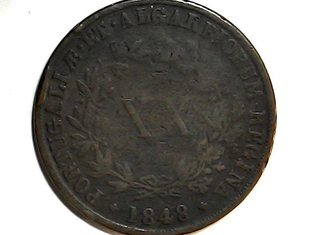 Maria II,1848.Reina de Portugal y el Algarbe. Sat_ja46