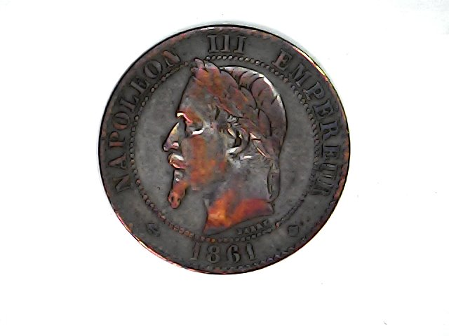 2 Centimes 1861 A. Imperio Francés. Napoleón III. Sat_ja59
