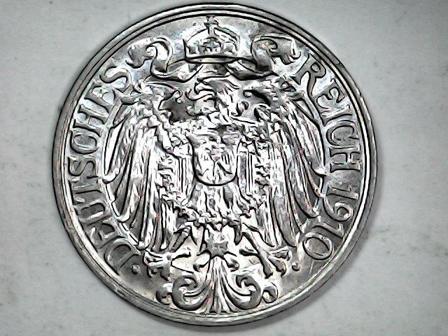 25 pfennig de 1910 A. Imperio Alemán. Sat_ja66