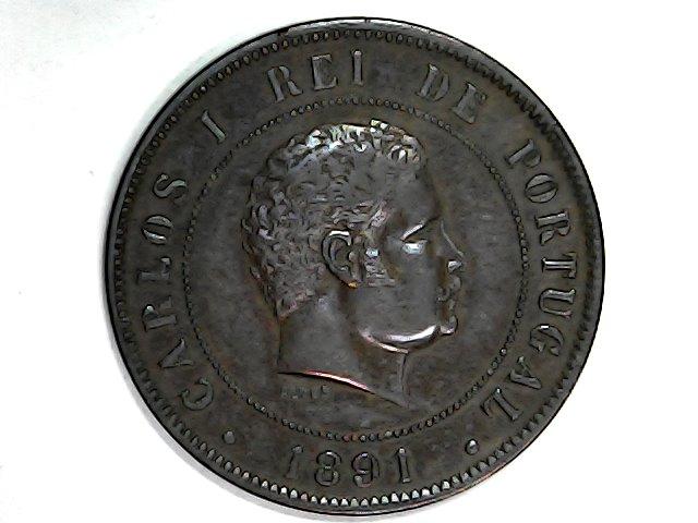 20 Reis de Carlos I de Portugal.1891 Sun_ja25