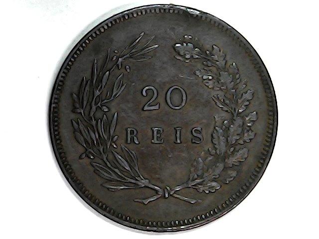 20 Reis de Carlos I de Portugal.1891 Sun_ja26