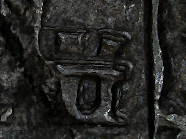 8 maravedis de Felipe III de Segovia, 1619, ambos acueductos invertidos. Sun_no55