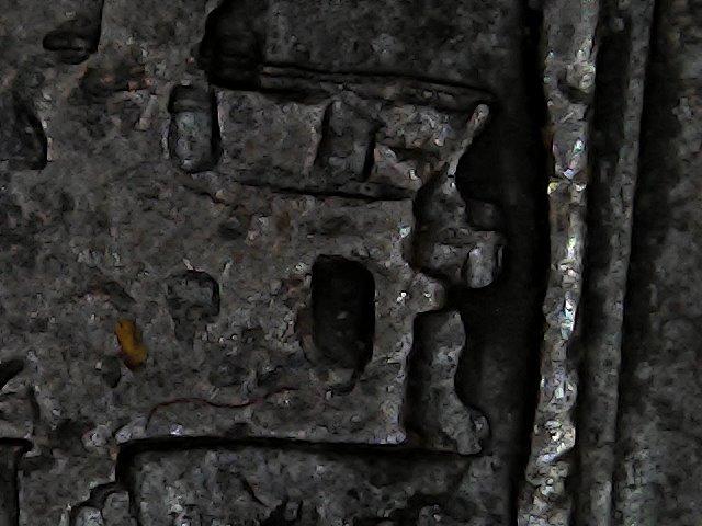 8 maravedis de Felipe III de Segovia, 1619, ambos acueductos invertidos. Sun_no56