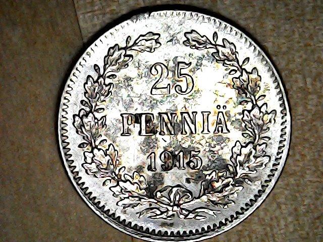 25 PENNIÄ 1915 Finlandia. Thu_fe17