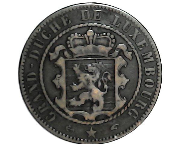10 centimes.Gran Ducado de Luxemburgo 1855 Tue_ja18