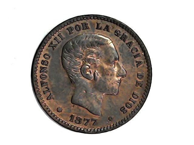 5ctmos.1877 Alfonso XII Oreja rayada. Wed_ja26