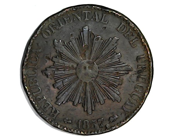 20 centésimos 1857 Rep.Orital. del Uruguay Wed_ja29