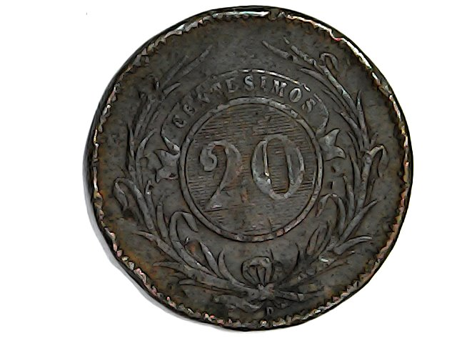 20 centésimos 1857 Rep.Orital. del Uruguay Wed_ja30