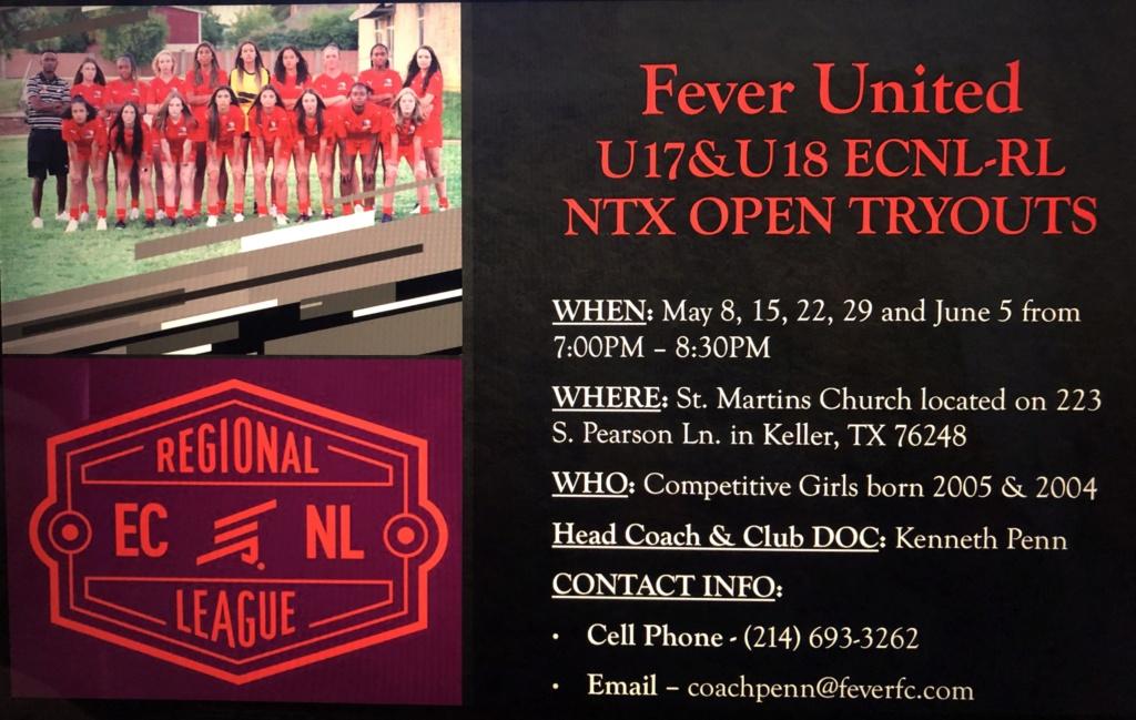 ECNL RL NTX OPEN Tryouts - Fever United '04/'05 Girls - Penn 26cec110
