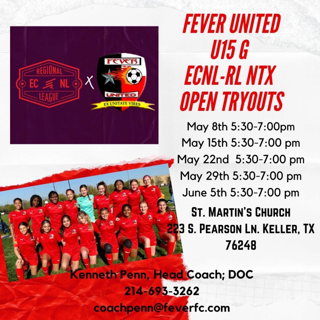 ECNL RL NTX OPEN Tryouts - Fever United '07 Girls - Penn Ce270310