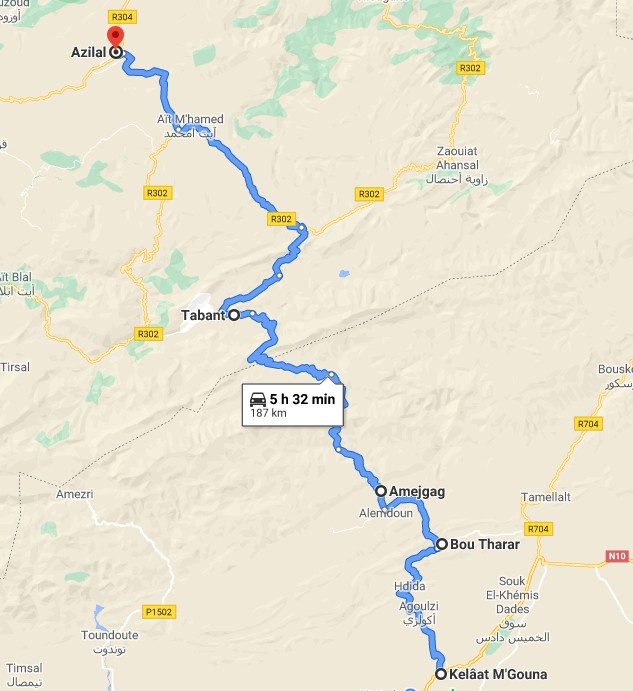 [Carburant, Routes, Police] nouvelle route  Azizal10