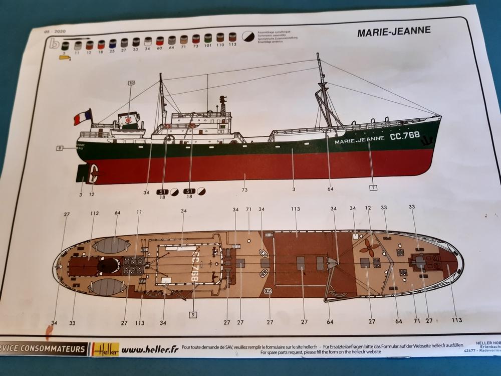 Chalutier Marie-Jeanne [Heller 1/200°] de G Chapuis 20211016