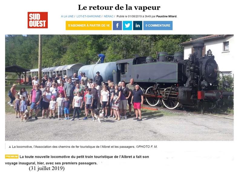 Train de Nérac: saison 2019 à toute vapeur ! Nzorac10