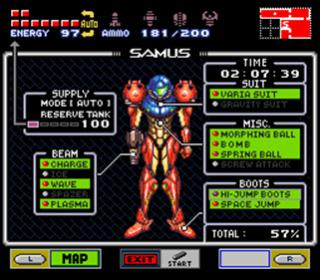 """Mon coup de cœur et premier fangame """"Hyper Metroid""""  26f29a10"""