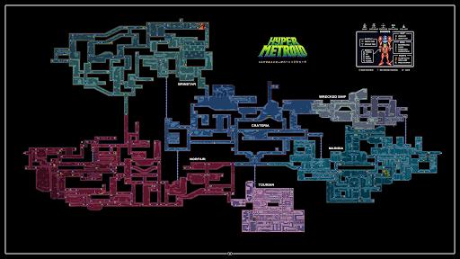 """Mon coup de cœur et premier fangame """"Hyper Metroid""""  Map10"""