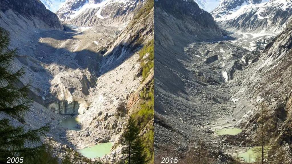 Mer de Glace : dernières photos avant disparition totale 2005-210