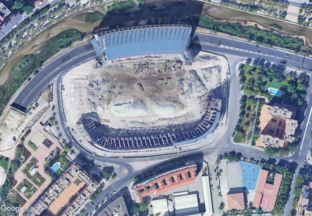 Stade Vicente Calderón, Madrid : du football à la Formule 1 ? Calder14