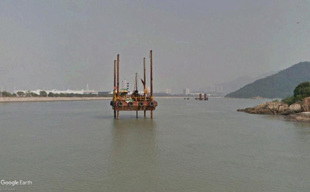 Le pont Macao >>>  Hong-kong, en construction Constr11